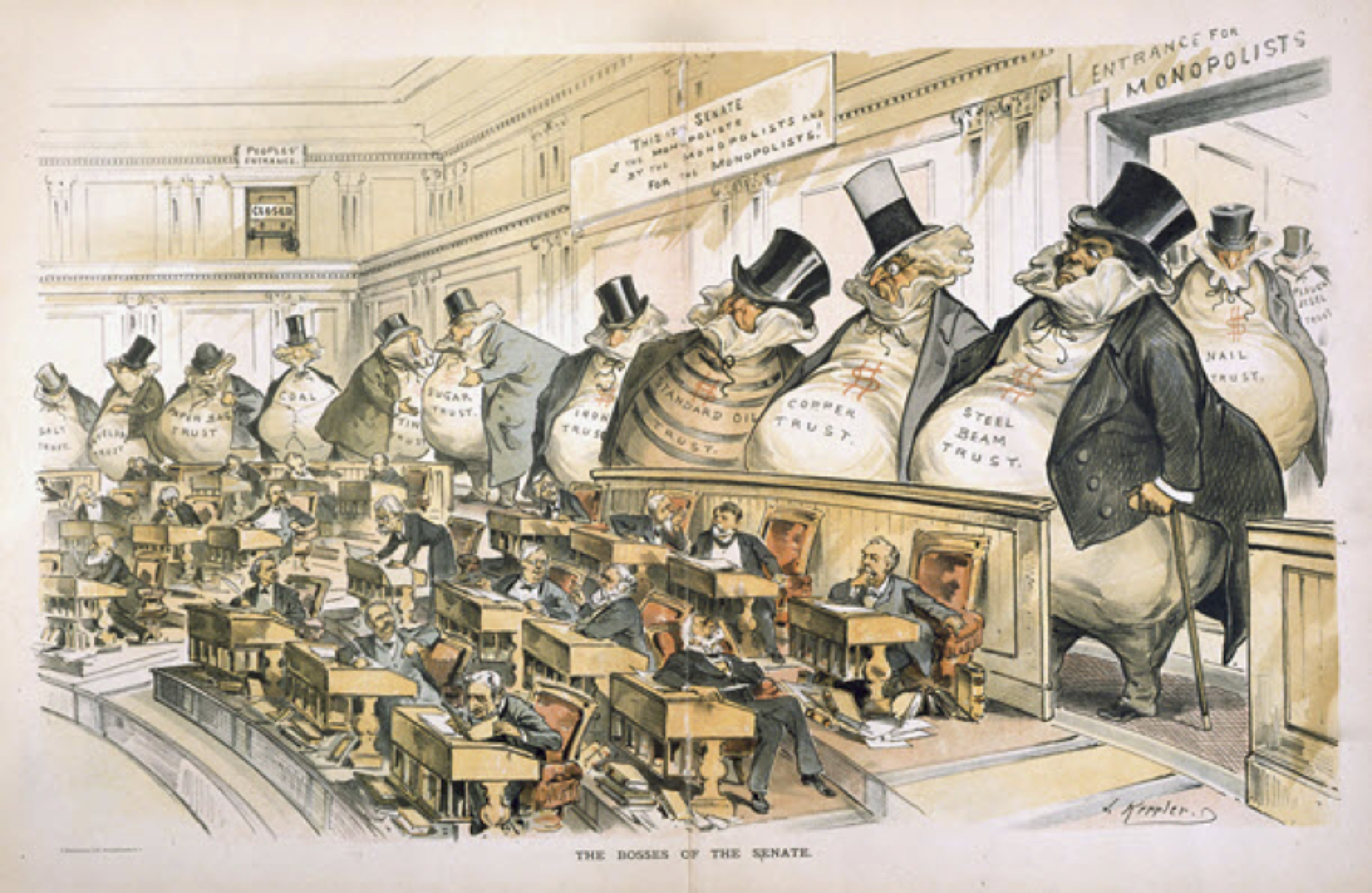 the superficial control of the us government by greed and competition during the gilded age 2 06 apush: (23-26) (1865-1898) (frameworks) a some argued that laissez-faire policies and competition promoted economic growth in the long run, and they opposed government intervention during economic downturns.